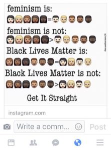 Feminism infographic from Instagram